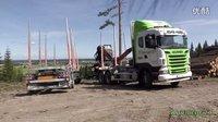 斯堪尼亚木材运输车倒车 (705播放)
