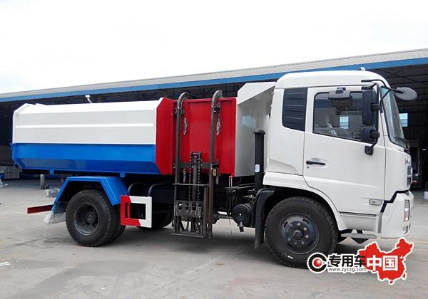 东风天锦12方挂桶式垃圾车