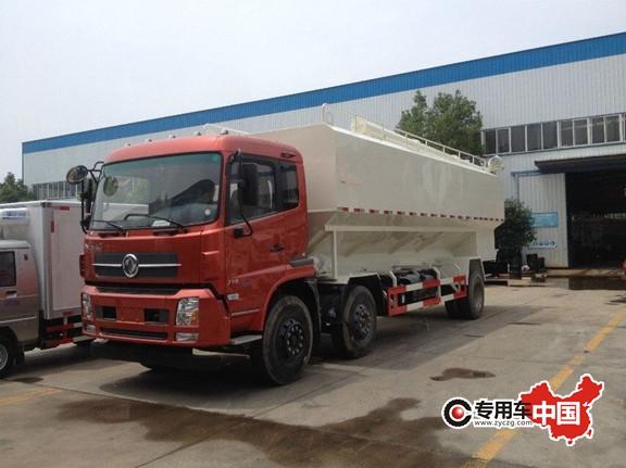 东风天龙15吨散装饲料运输车