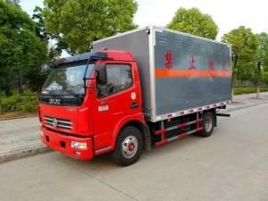 东风国五易燃气体厢式运输车