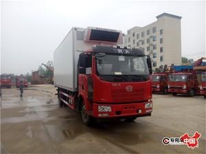 程力国五解放J6冷藏车