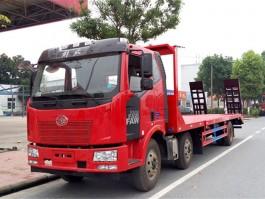 二手解放J6小三轴平板运输车