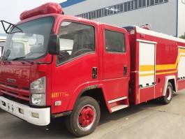 庆铃五十铃5方水罐消防车 (4)