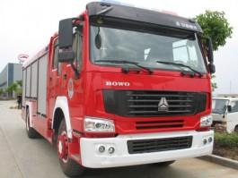 二手豪沃8吨消防车