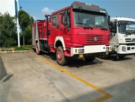 重汽豪沃单桥消防车 (5)