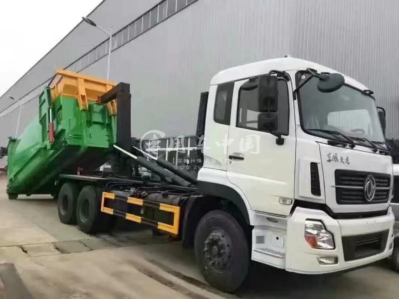 东风天龙15方拉臂式垃圾车
