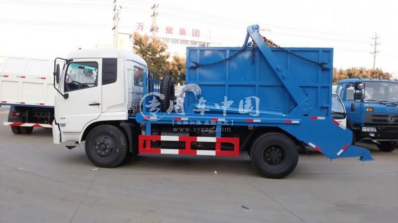 东风天锦8方摆臂式垃圾车