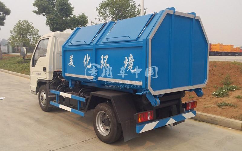福田小卡4方拉臂式垃圾车