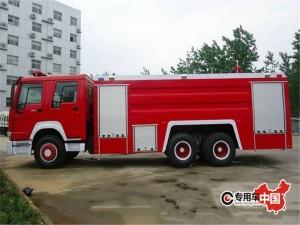 重汽豪沃15吨泡沫消防车