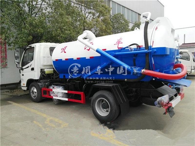 江淮5方国五吸污车