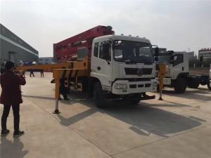 东风御虎31米小型混凝土泵车