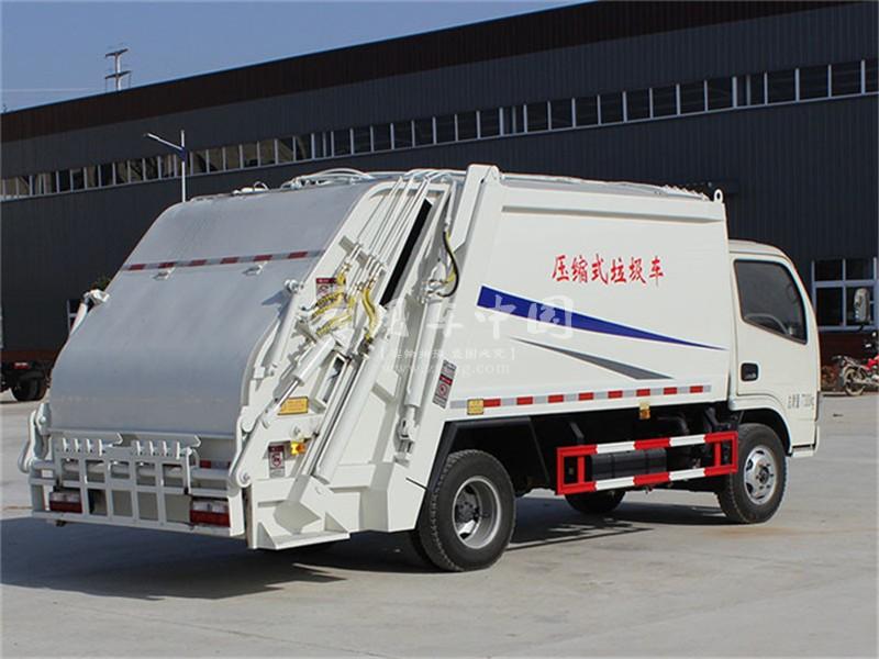 东风3方压缩式垃圾车