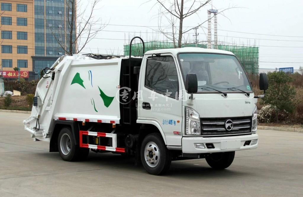 凯马2方压缩式垃圾车图片1
