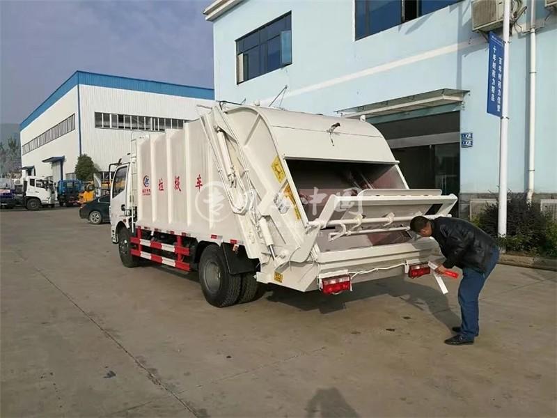 凯普特4方压缩式垃圾车