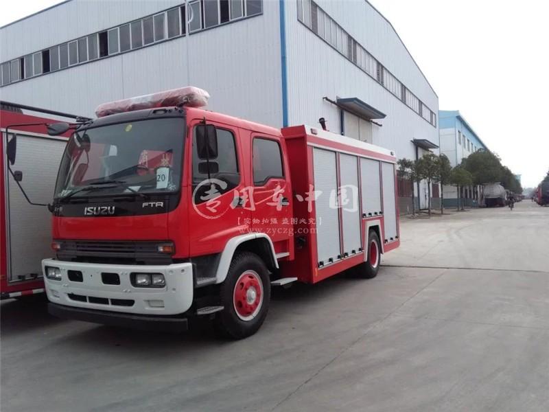 庆铃8方水罐消防车