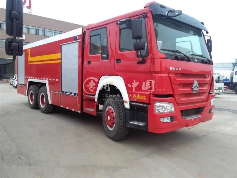 重汽16方水罐消防车