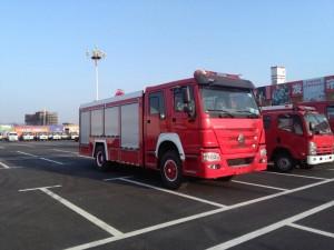 重汽8吨泡沫消防车