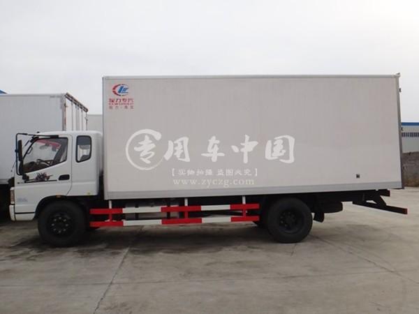 福田欧马可7.6米冷藏车侧身图