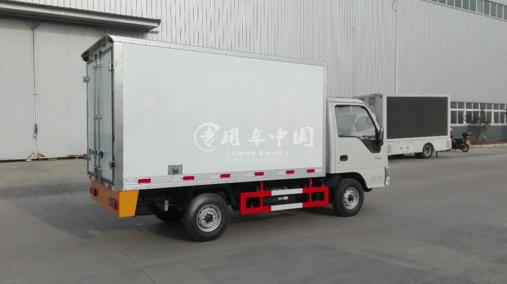江淮康玲3.1米冷藏车后侧图