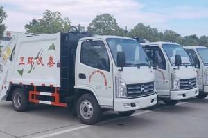 山西压缩垃圾车客户采购3台压缩垃圾车