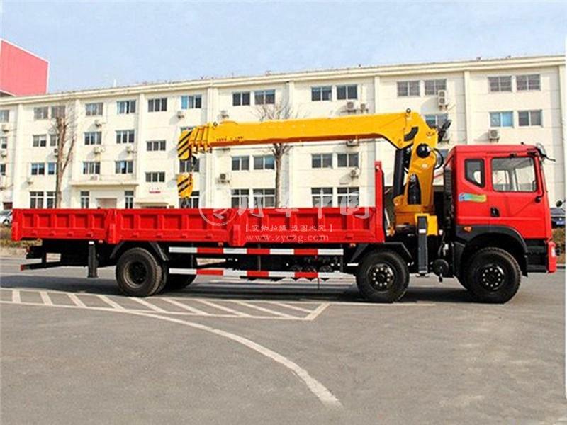 程力东风特商10吨随车吊侧身图