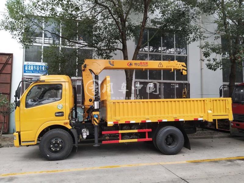 程力东风福瑞卡3.2吨随车吊侧身图