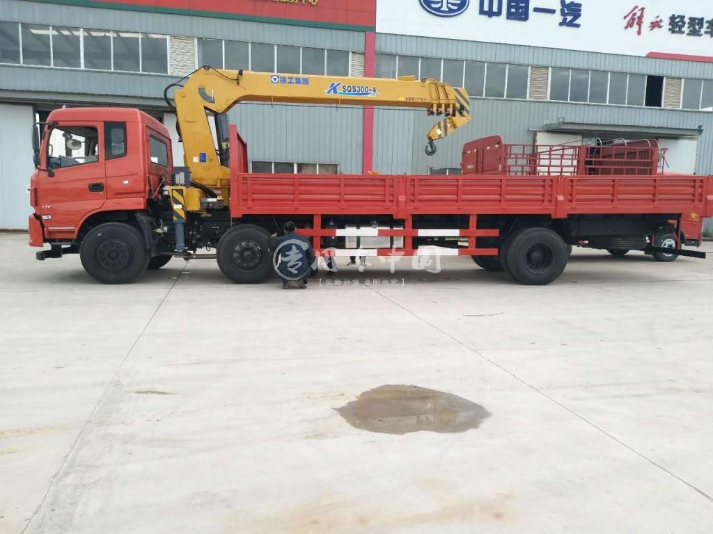 程力东风专底10吨随车吊侧身图
