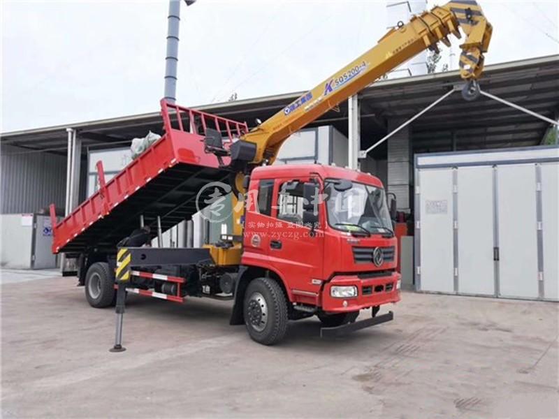 程力东风御虎6.3吨随车吊前侧图
