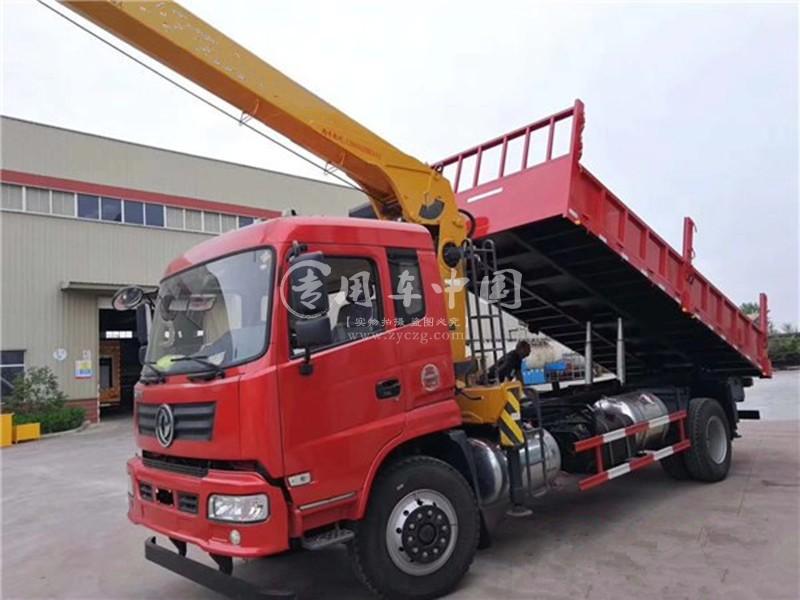 程力东风御虎6.3吨随车吊前脸图