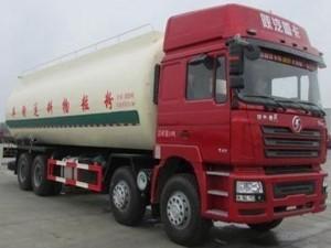 程力陕汽德龙28方粉粒物料运输车