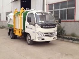 福田4方侧装压缩式垃圾车