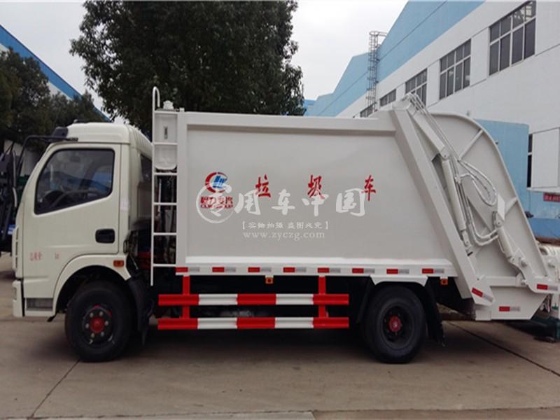 东风多利卡8方压缩式垃圾车图片