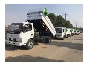 东风福瑞卡4.2米蓝牌自卸式垃圾车