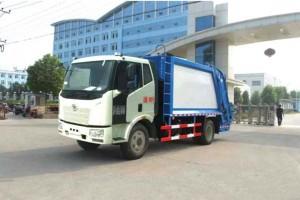 解放J6型12方压缩式垃圾车【大容量垃圾车】
