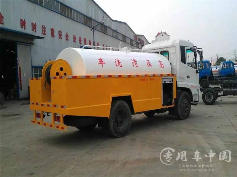 东风天锦8方高压清洗车图片