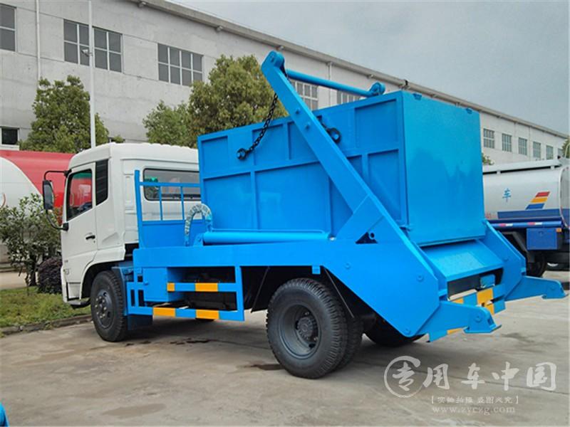 东风天锦8方摆臂式垃圾车图片