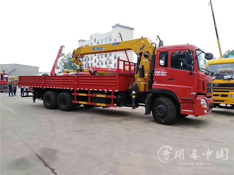 东风天龙12吨随车吊图片