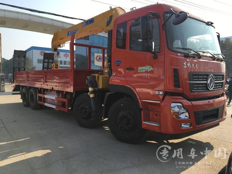 东风天龙14吨随车吊图片