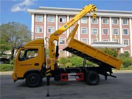 时风蓝牌4吨随车吊带自卸