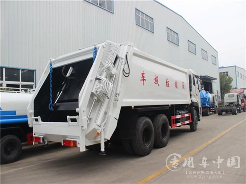东风天龙18方压缩垃圾车图片