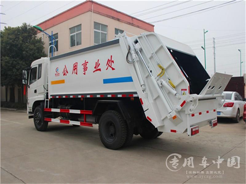 东风专底12方压缩垃圾车图片