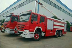 重汽双排喷射25米举高消防车