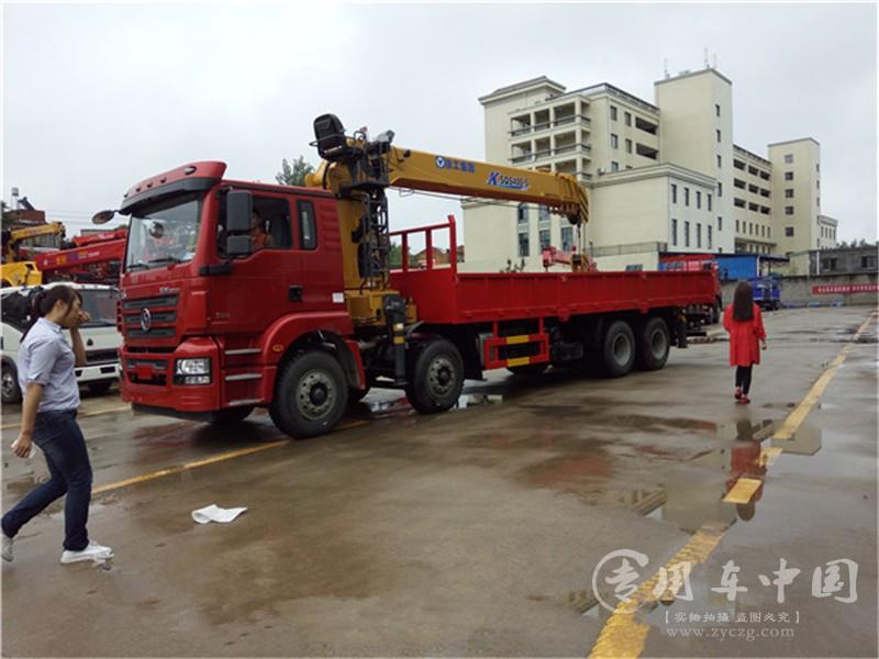 陕汽德龙18吨随车吊图片