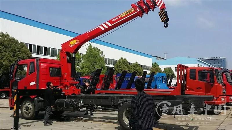 程力解放10吨随车吊