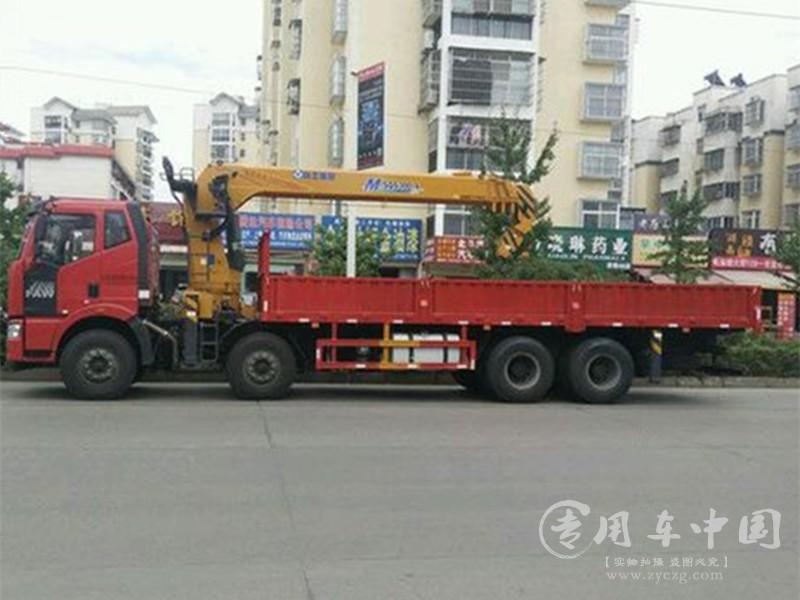 程力解放j6 16吨程力随车吊