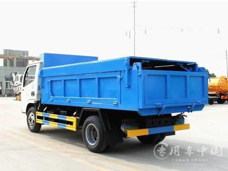 楚胜东风多利卡5方自卸式垃圾车