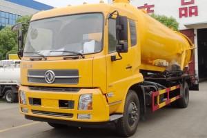 东风天锦12吨水循环吸污车价格介绍