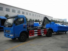 程力东风多利卡8方钩臂式垃圾车