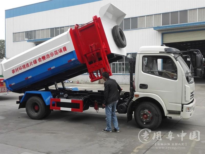 东风6方挂桶垃圾车图片