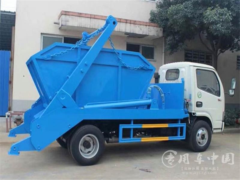 东风4方摆臂垃圾车图片